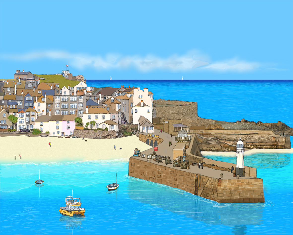 St ives art blue harbour gallery for The ives