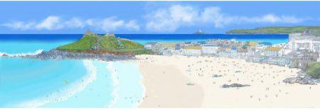 Porthmeor Beach and The Island